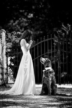 bride w/. dog  Braut & Hund