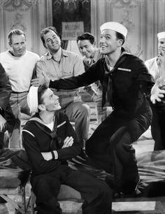 Frank Sinatra & Gene Kelly in Anchors Aweigh.