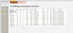 A Preofesional Excel Blank Wedding Guest List  List Templates
