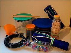 Making homemade musical instruments is a fun way to experiment with sound. *Instructions for several different kinds of instruments. Some quick, some with a little more effort.*