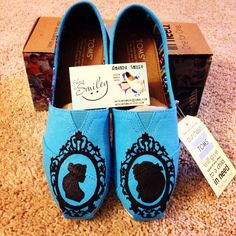 Disney Beauty and the Beast Silhouette Toms