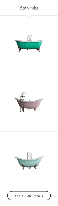 """Bath tubs"" by lynxe ❤ liked on Polyvore featuring bathroom, home, home improvement, furniture, bad, bath, bathtub, accessories, bath tubs and filler"