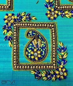 No photo description available. Cutwork Blouse Designs, Kids Blouse Designs, Hand Work Blouse Design, Wedding Saree Blouse Designs, Pattu Saree Blouse Designs, Embroidery Neck Designs, Stylish Blouse Design, Embroidery Blouses, Aari Embroidery