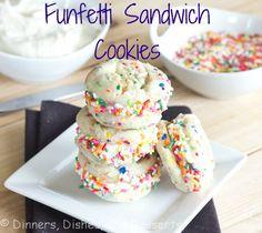 Funfetti Cookies @Dinnersdishesdessert