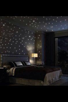 É como estar num céu estrelado,é lindo#lindoquarto