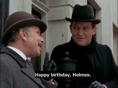 Sherlock Holmes debuted January 6, 1854. :) Happy 160th Holmes!
