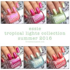 Essie Tropical Lights Collection Summer 2016