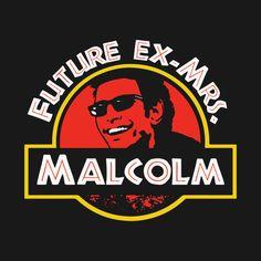 cf4dfbd6caa631 Jeff Goldblum Future Ex-Mrs Malcolm Tank Top - Jurassic Park Jurassic World Ian  Malcolm Funny Ladies Shirt featuring Goldblum Chaos Theory