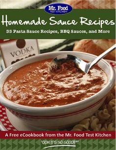 Free Homemade Sauce Recipes eCookbook
