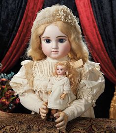 The Lifelong Collection of Berta Leon Hackney: 181 Gorgeous Grand French Bisque Bebe, Series C, by Jules Steiner