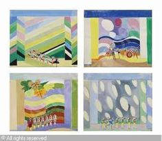 DELAUNAY-TERK Sonia - Projet de décor pour les quatre saisons (Printemps, Eté, Automne, Hiver), (4)
