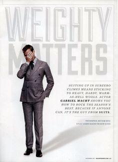 Tracey Mattingly - News - Gabriel Macht in Sharp Magazine : Lookbooks - the Technology behind the Talent.