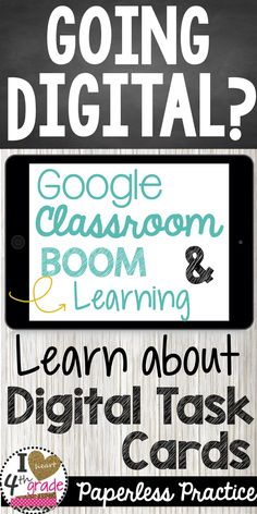 Google Classroom | Google Classroom Ideas | Boom Cards | Digital Classroom Ideas | Paperless Classroom | Google Classroom ideas elementary | Going digital this year? Learn about digital task cards for Google Classroom and Boom Learning. ( $ )