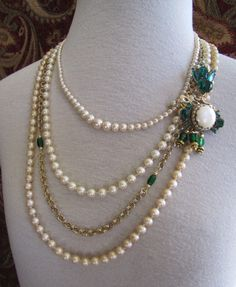the Gone With the Wind necklace repurposed by RoseAndThatch, $42.00