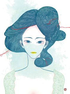 The Hair Series by Melody Shi, via Behance #beauty #hairstyle #hair #drawing