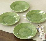 Pottery Barn Mitra debossed salad plate set of 4: $40