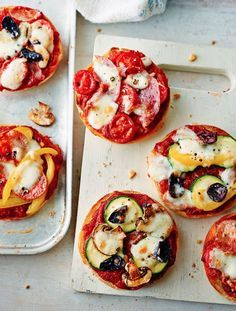 mini muffin pizzas by annabel karmel from Annabel's family cookbook