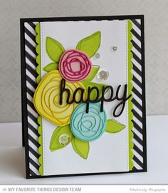 Circle Scribble Flowers, Circle Scribble Flowers Die-namics, Scribbles Die-namics, Blueprints 23 Die-namics, Happy Trio Die-namics, Diagonal Stripes Stencil - Melody Rupple  #mftstamps