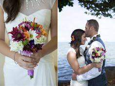 Tropical wedding bouquet. LucieXYZ Photography, Kanoehe, Hawaii and Northern California weddings.