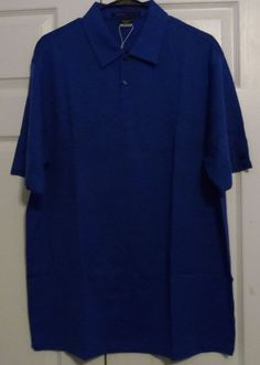 Nike Tiger Woods Collection Golf Shirt, Large, Blue with Tartan Pattern, NWT #Nike #TigerWoodsCollection