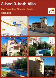 3-bed 3-bath Villa in Las Ramblas, Alicante, Spain ►€239,000 #PropertyForSaleInSpain