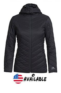 B01NCQJVAV : Icebreaker Merino Women's Hyperia Hooded Jacket Black Small. Lightweight pertex microlight fabric for durability and compressibility. snug fitting protective hood. Reverse coil center front zip with DWR. Zipper chin guard and interior storm flap prevent chafing. Zippered hand pockets with DWR #Sports #OUTDOOR_RECREATION_PRODUCT