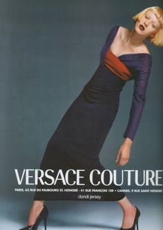 Versace Couture,photographed by Richard Avedon, styled by Lori Goldstein. Model: Karen Elson.