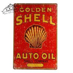 Metal Tin signs Auto Oil Retro Tin Sign , Street Rod, for the Garage, Man Cave Home Decor