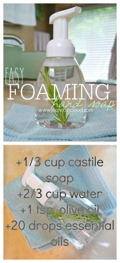 Organic DIY foaming hand soap