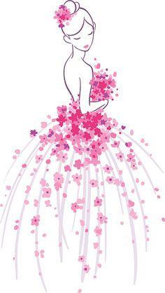 Girly Drawings, Art Drawings Sketches Simple, Pencil Art Drawings, Easy Drawings, Sketches Of Flowers, Art Floral, Pop Art Drawing, Pink Drawing, Art Rose