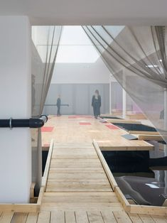 The final room is a large flooded hall that the water from the pipe flows into, creating a miniature waterfall. Osaka, Wooden Ramp, Water Drip, Secret Space, Venice Biennale, Green Architecture, Waterworks, Dezeen, Water Pipes