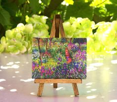 Claude Monet - Mini Canvas on Easel by ForMomentsInTime on Etsy