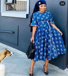 African Print Dresses, African Print Fashion, African Fashion Dresses, African Dress, Fashion Outfits, African Prints, South African Traditional Dresses, Traditional Outfits, Traditional Wedding