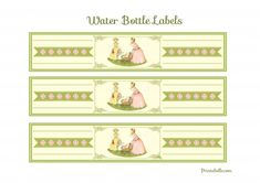 free vintage baby shower party printable water bottle labels