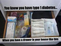 Type 1 Diabetes Memes | LIVING. Drawer? Haha I have a closet
