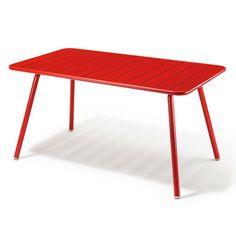Gartentisch Aluminium Rot | Gartenmöbel