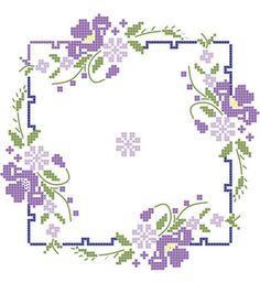 Wonderful Ribbon Embroidery Flowers by Hand Ideas. Enchanting Ribbon Embroidery Flowers by Hand Ideas. Cross Stitch Borders, Crochet Borders, Cross Stitch Flowers, Cross Stitch Designs, Cross Stitching, Cross Stitch Patterns, Hardanger Embroidery, Rose Embroidery, Learn Embroidery
