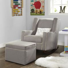 Baby Relax The Abby Nursery Rocker Chair, Beige Eames Rocking Chair, Rocking Chair Nursery, Glider And Ottoman, Oversized Chair And Ottoman, Desk Chair Teen, Breakfast Bar Chairs, Nursery Rocker, Comfortable Accent Chairs, White Dining Chairs