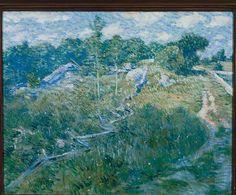 """""""Pelham Lane,"""" Julian Alden Weir, ca. 1902, oil on canvas, 20.125 x 25.75"""", The Columbus Museum."""