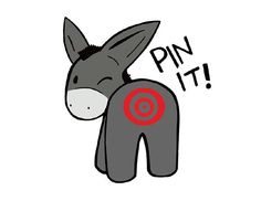 Free printable pin the tail on the donkey game party for Pin the tail on the dinosaur template
