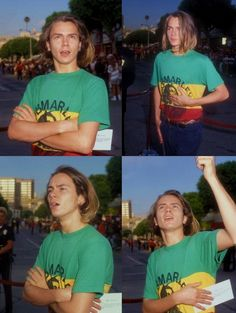 river phoenix - he wore the Marley shirt a lot.