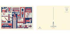 New York / London Postcard Set on Behance