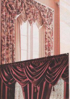 El costurero de Stella curso gratis: Tres cortinas diferentes con un molde.El costurero de Stella curso gratis
