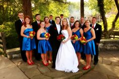 I like how the men's ties match the girl's shoes and not the dresses. Perfect Wedding Guide Blog