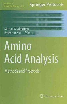 Amino Acid Analysis: Methods and Protocols