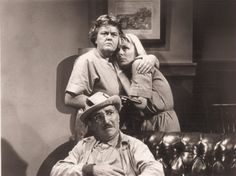 """This is a still shot from the episode """"Convicts at Large.""""  Rita Shaw, Jean Carson, and Howards McNear"""
