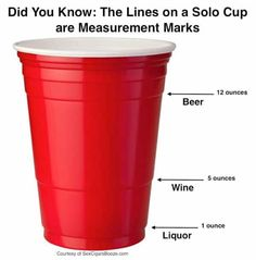 Solo Cup Facts from Twit Pic and other genius party hacks and tips #party #partyplanning #hacks #lifehack #wine #cocktail #backyardparty #bbq #partyideas #partytips #redsolocup