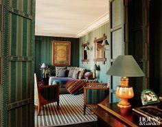 Francois Catroux for Diane von Furstenberg in Paris. Via Architectural Digest.