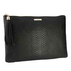 This Python Leather Clutch was made to compliment your chic style. The small clutch is slim enough to slip into your purse.The large leather clutch has ample room to carry everything a lady needs! Leather Hobo Bags, Leather Clutch, Travel Accessories, Fashion Accessories, That Old Black Magic, Red And White Roses, Black Clutch, Clutch Wallet, Diy Clutch