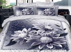 3D Noble Top Class Flower 4 Piece Bedding Sets/Duvet Cover Sets